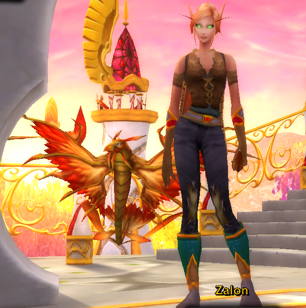 world of warcraft blood elf hunter. in World of Warcraft (WOW)