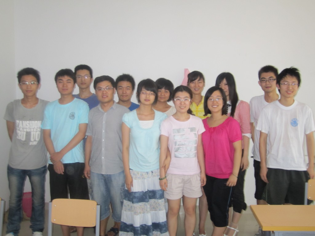 Picture of my first class, 13 students, at Shandong University