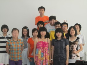 Picture of my 2nd class at Shandong University