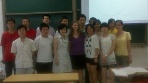 This is a picture of my fifth and final class at Shandong University