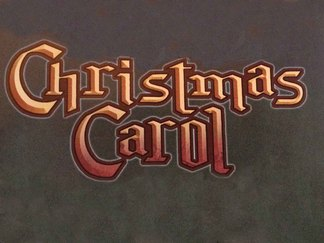 "Picture of the title ""Christmas Carol"